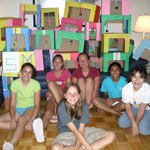 Girl Scout Troop #2278 donated 30 decorated kitty forts to the MHS !