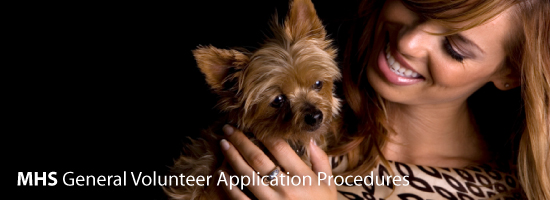 MHS General Volunteer Application Procedures
