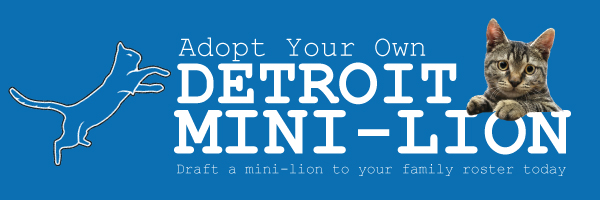 Adopt your own Detroit Mini-Lion!
