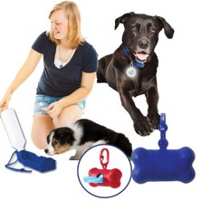 Pet Waterbottle With Bowl, Bag Holder And Safety Light