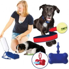 Pet Waterbottle With Bowl, Bag Holder, Safety Light And Tuff