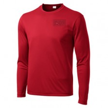 MM16 576 adult long sleeve red wicking tshirt