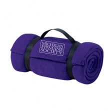 MM16 768 purple fleece throw blanket with carry strap